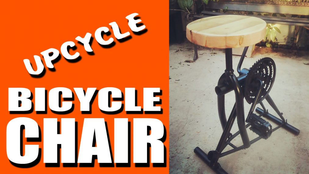 Industrial Seat from a bicycle ( Upcycle )