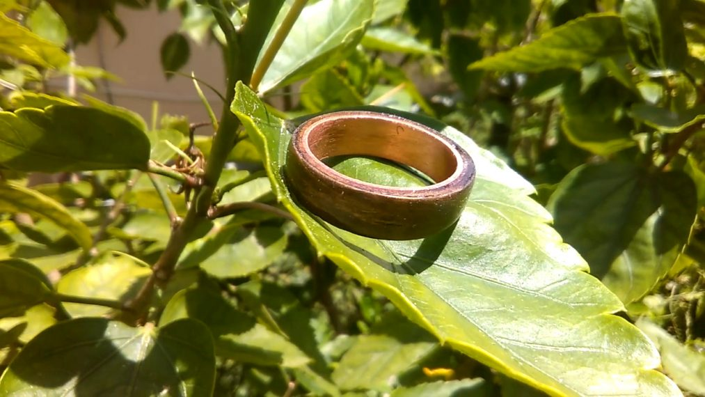 Make A Ring From Wood And Copper